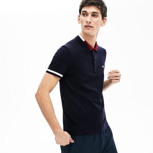 قميص بولو قطني بألوان متباينة من Lacoste للرجال