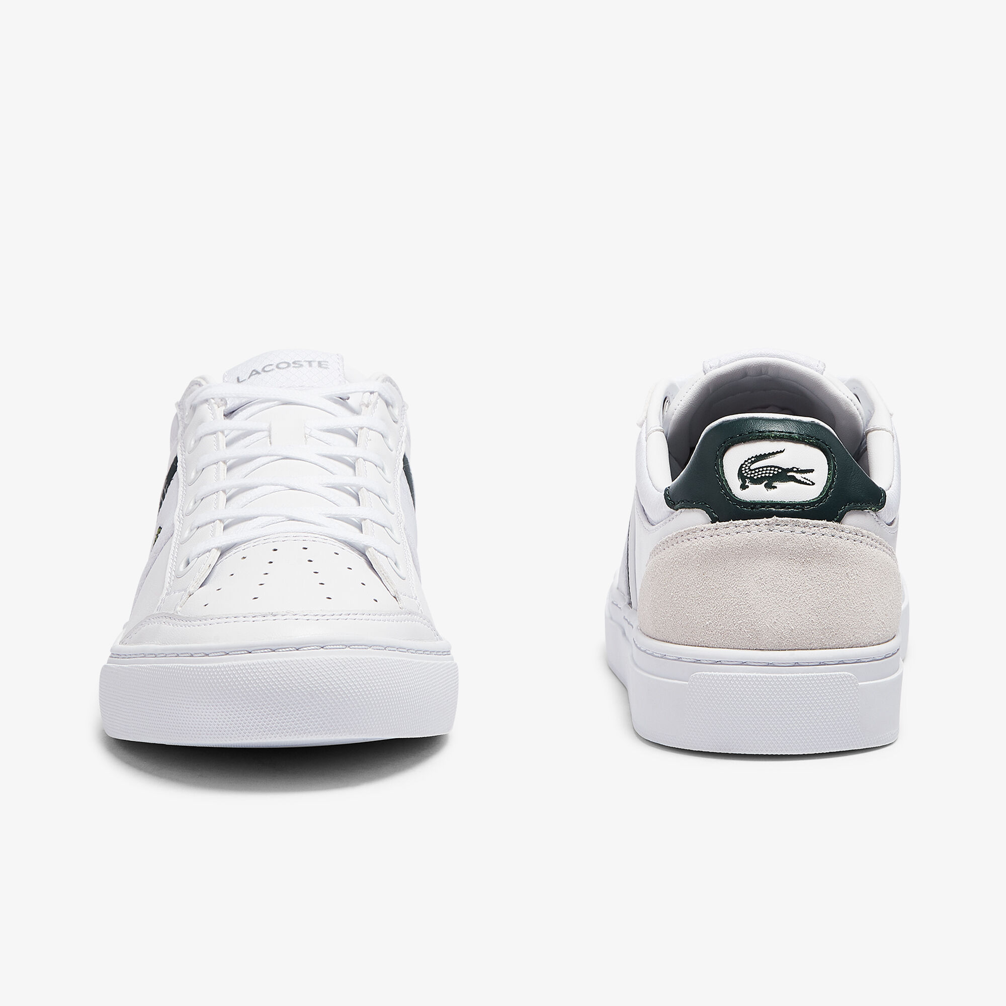 Men's Courtline Leather and Textile Trainers
