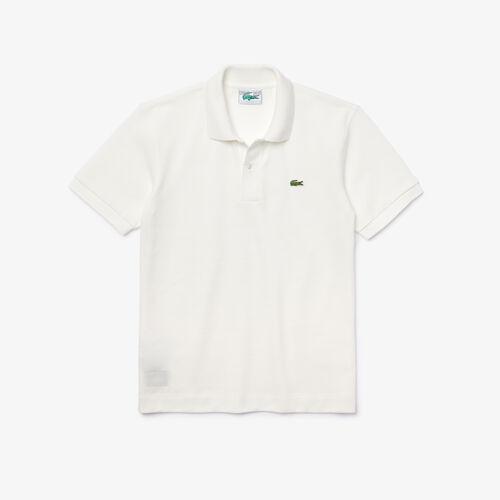 قميص بولو من بيكيه القطن العضوي للرجال بقصة كلاسيكية
