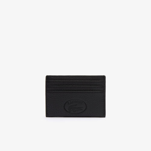 Women's Croco Crew Grained Leather Card Holder