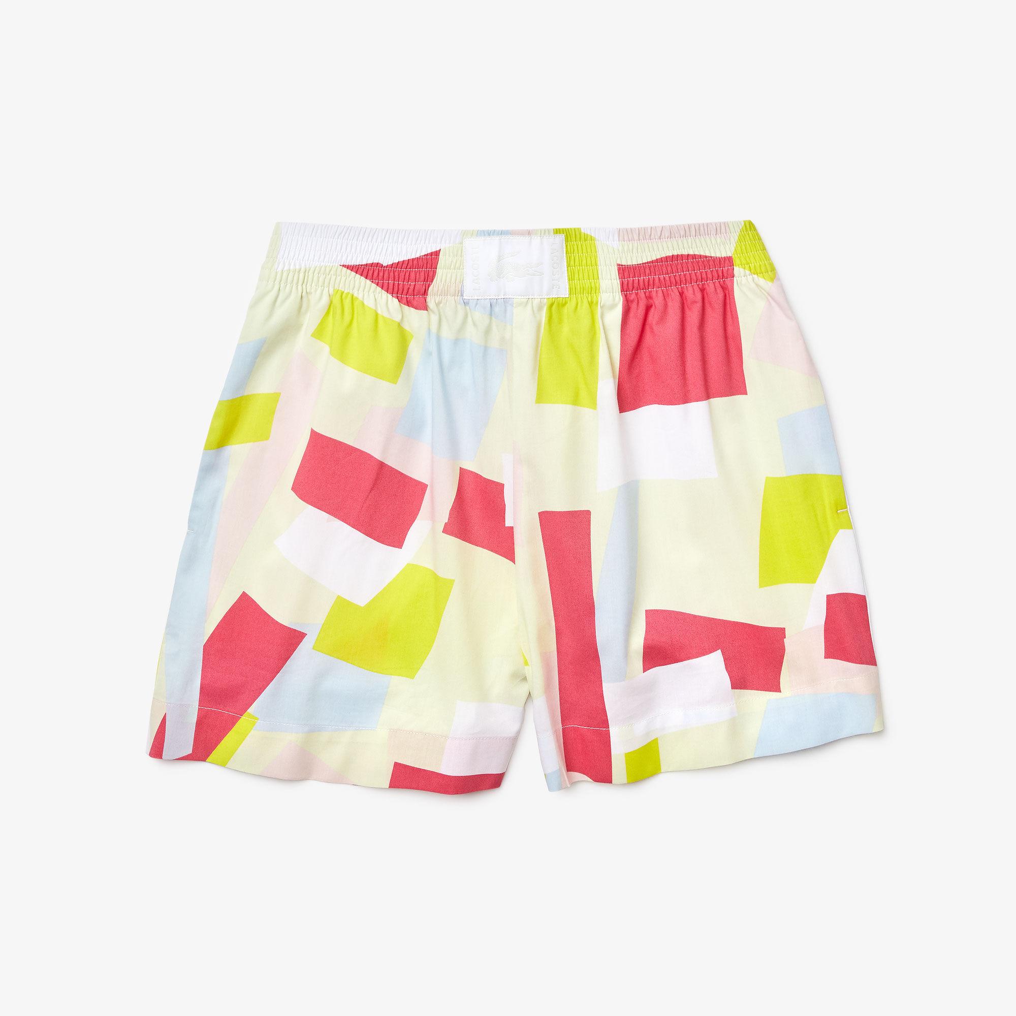 Women's Coloured Design Light Cotton Poplin Shorts