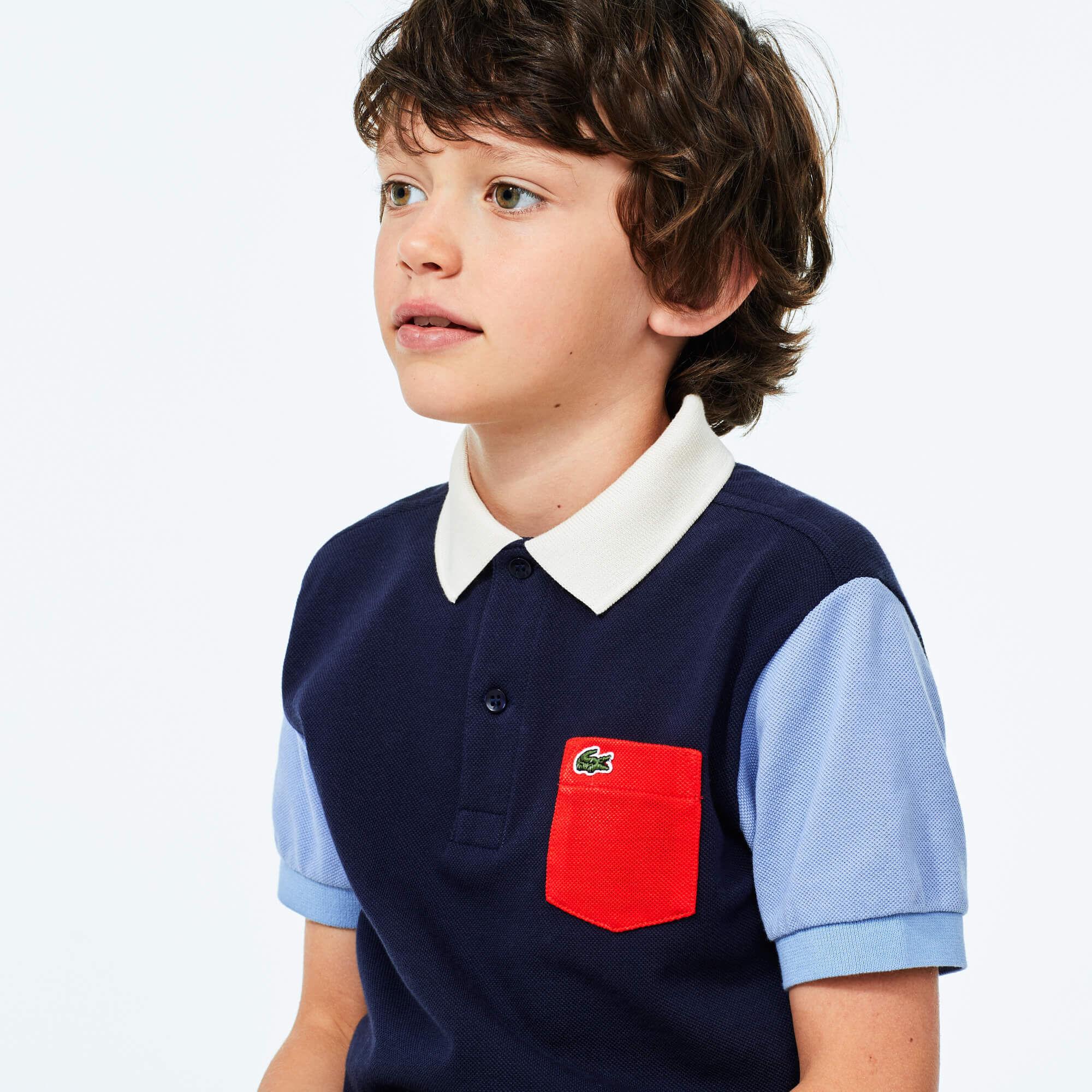 قميص بولو قطني للصبيان من Lacoste