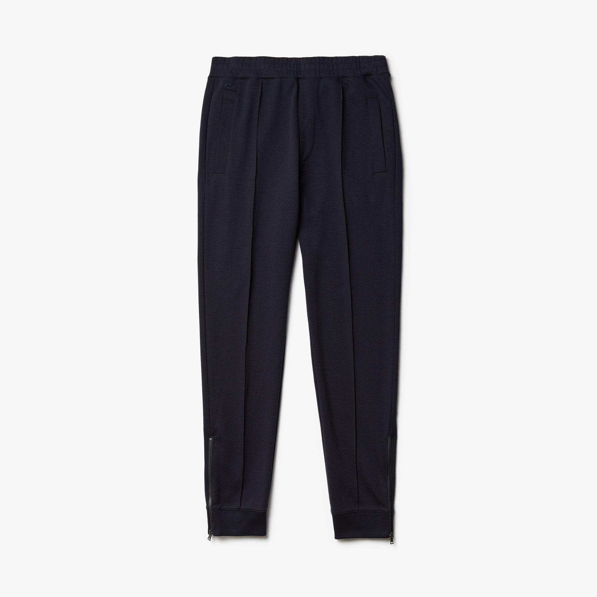 Men's Pleated Cotton-Silk Trackpants