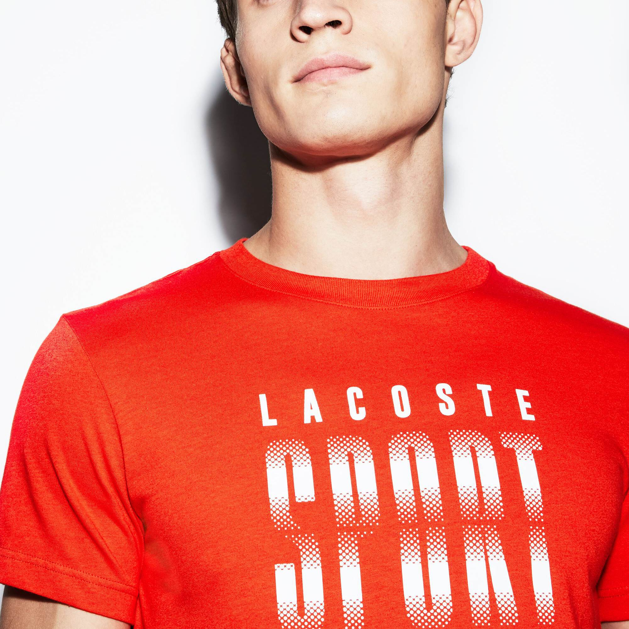 Men's Lacoste SPORT Crew Neck Lettered Tech Jersey Tennis T-shirt
