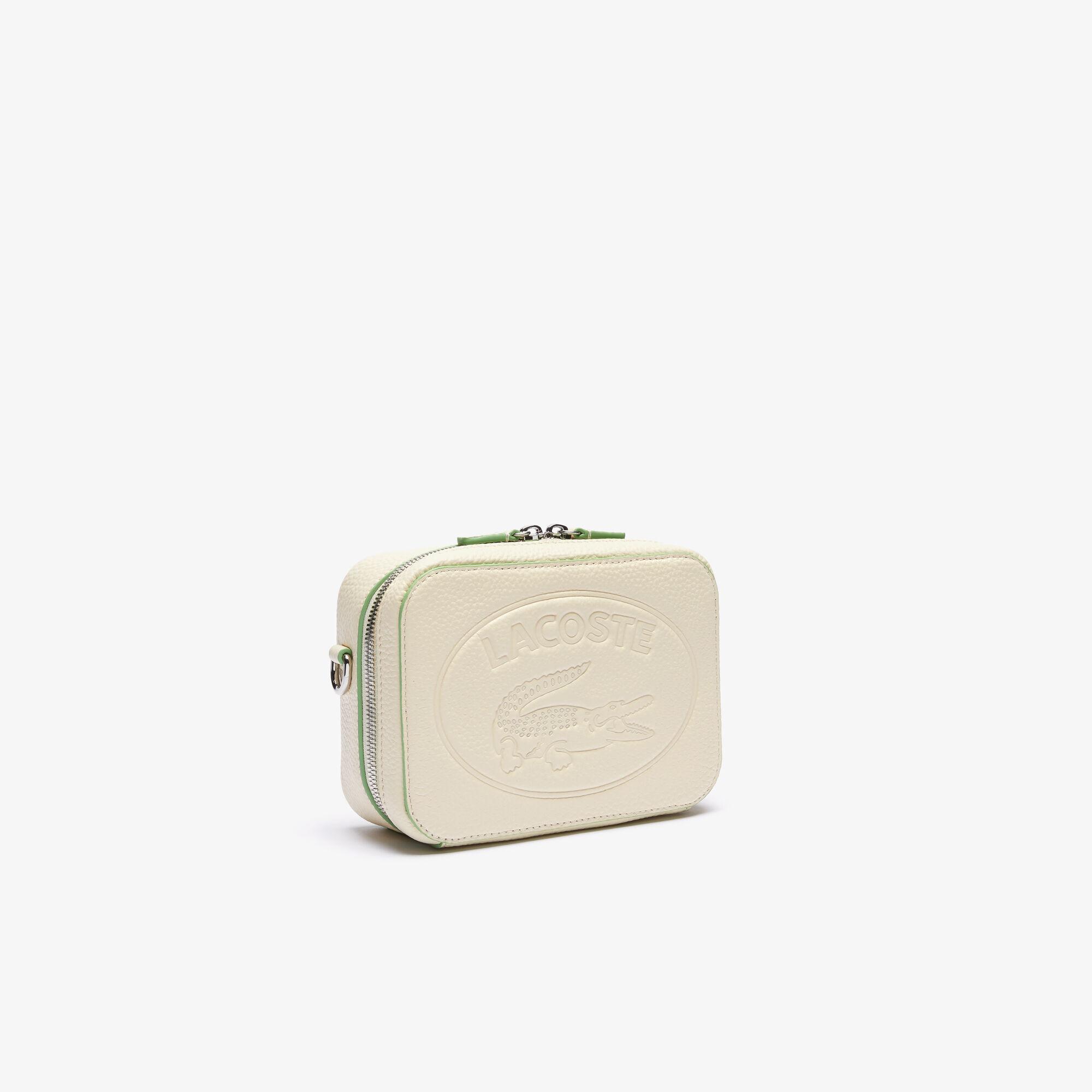 حقيبة من الجلد المحبب مع حزام كتف قابل للفصل من مجموعة Croco Crew للنساء
