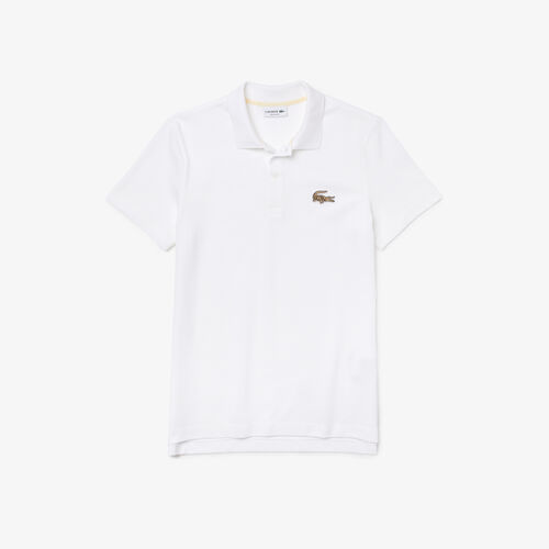 Men's Lacoste Regular Fit Badge Cotton Piqué Polo