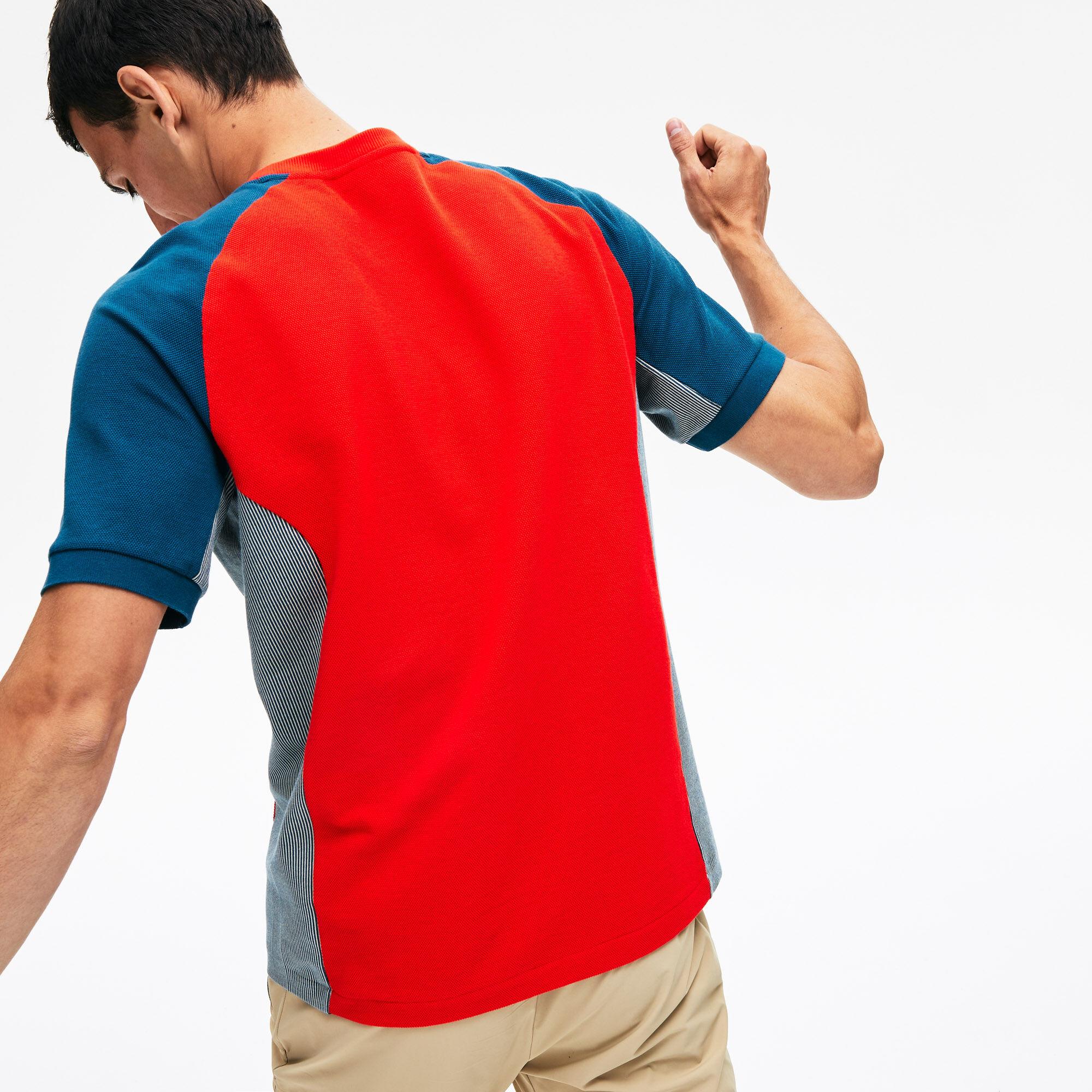 Men's Colourblock Piqué Crew Neck T-shirt