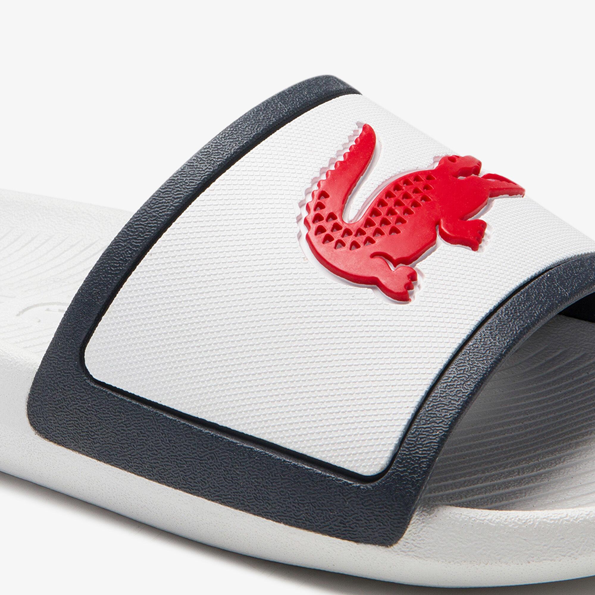 Men's Croco Rubber Strap Synthetic Slides