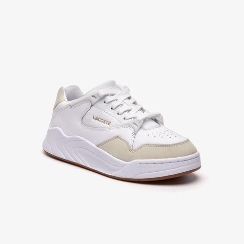 حذاء رياضي من الجلد بلون واحد مجموعة Court Slam للنساء