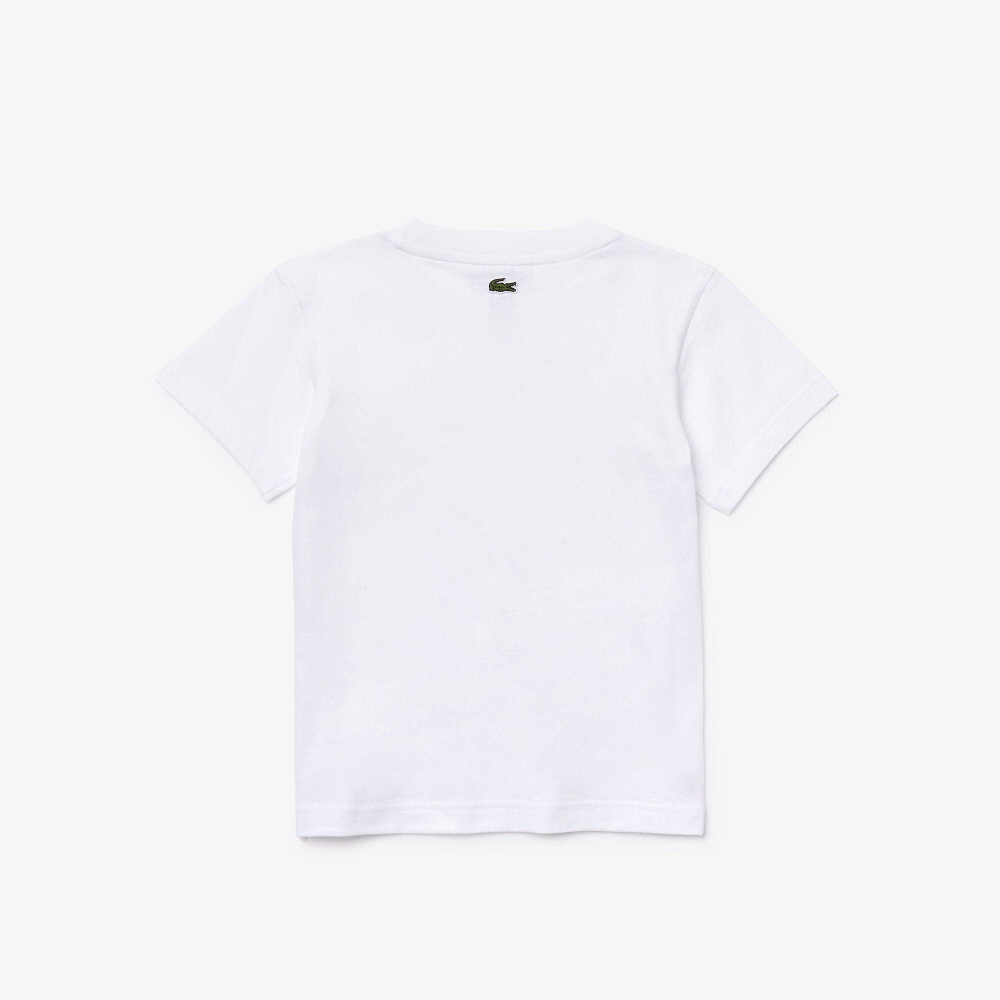 Boys' Crew Neck Fun Design Cotton T-shirt