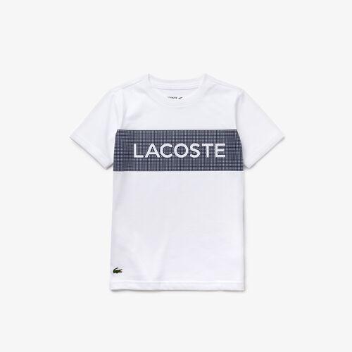 قميص تي شيرت تنس للصبية من الجيرسي من مجموعة Lacoste Sport Lettering