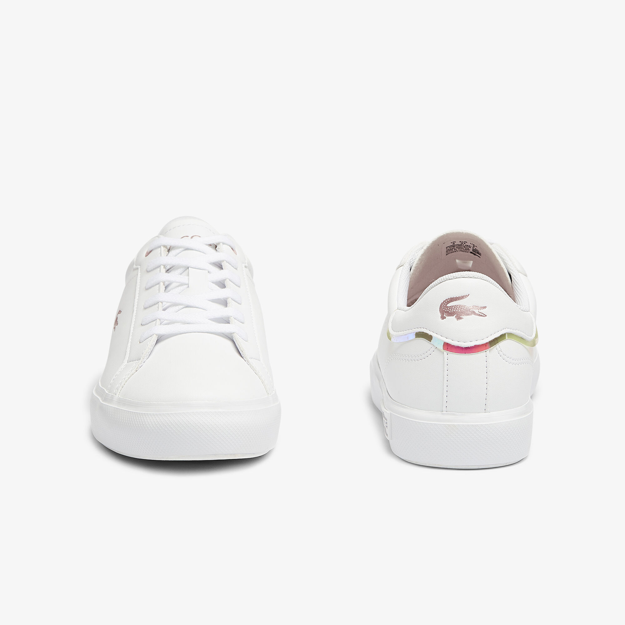 Juniors' Powercourt Synthetic Metallic Accent Trainers