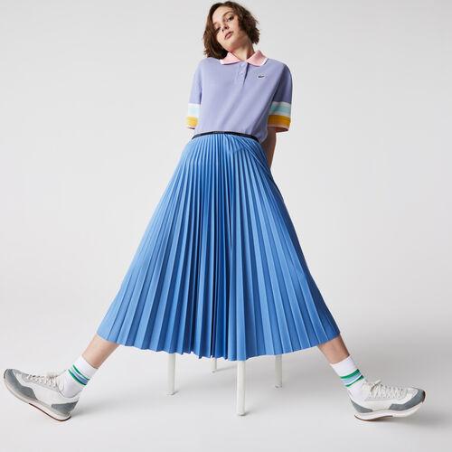 Women's Branded Elasticised Pleated Skirt