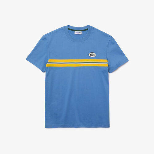 Men's Heritage Stripe Band And Badge Cotton T-shirt