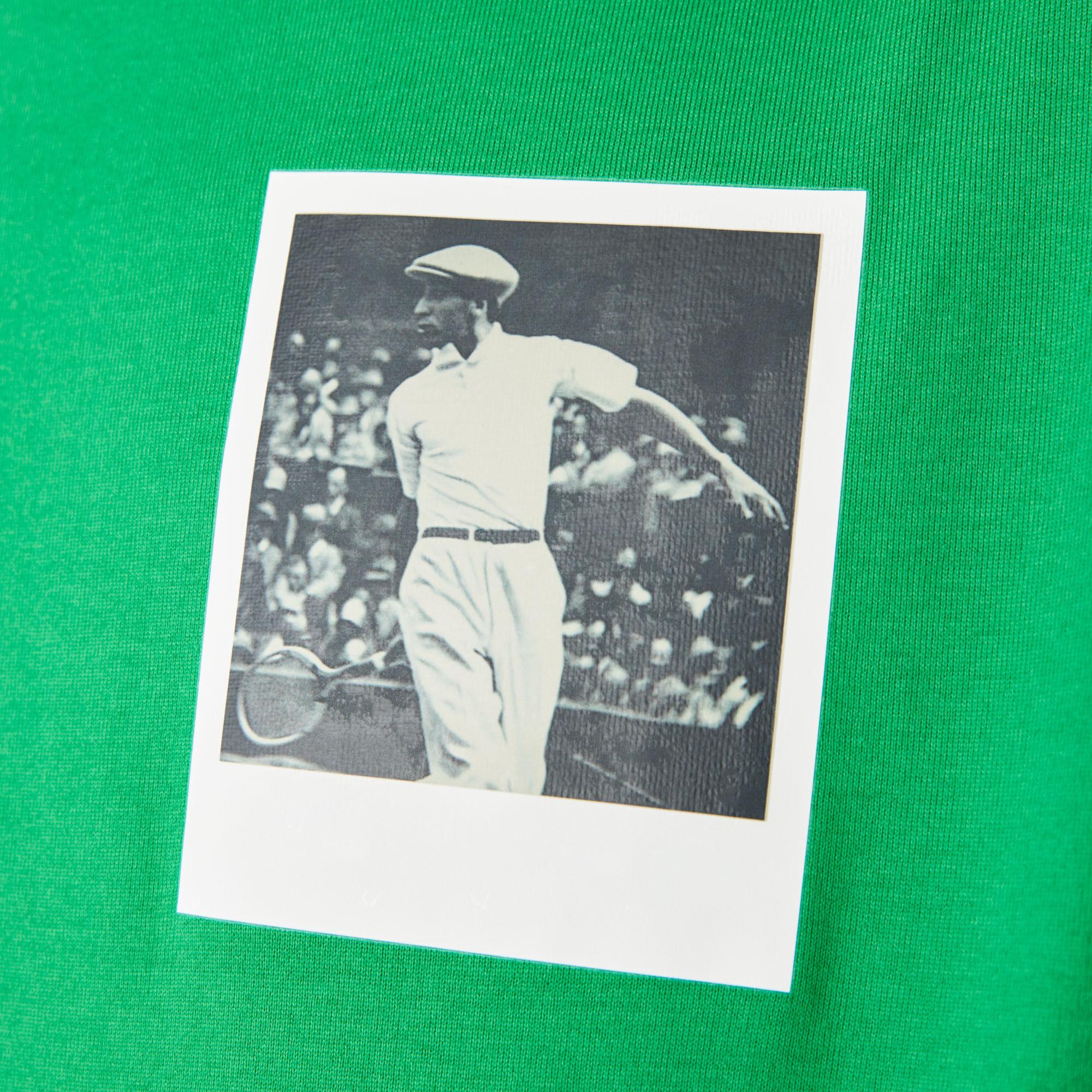 تي شيرت قطني للنساء بفتحة رقبة مستديرة ونقشة مطبوعة لمجموعة Polaroid