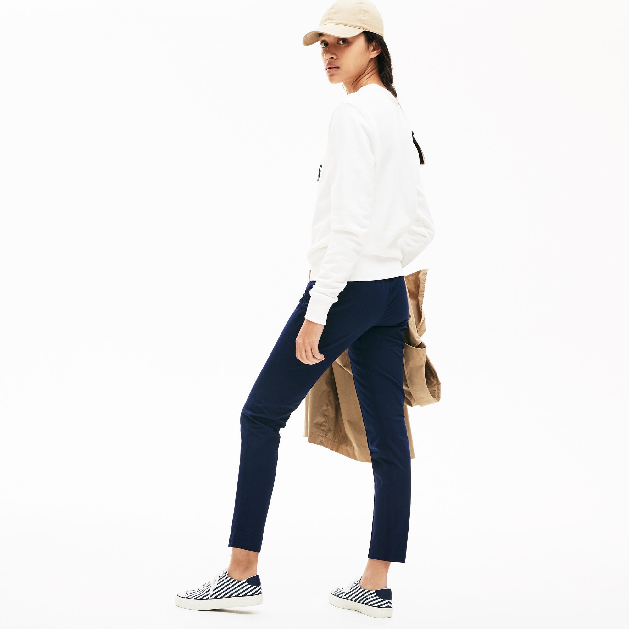 Women's Pleated Stretch Cotton Leggings