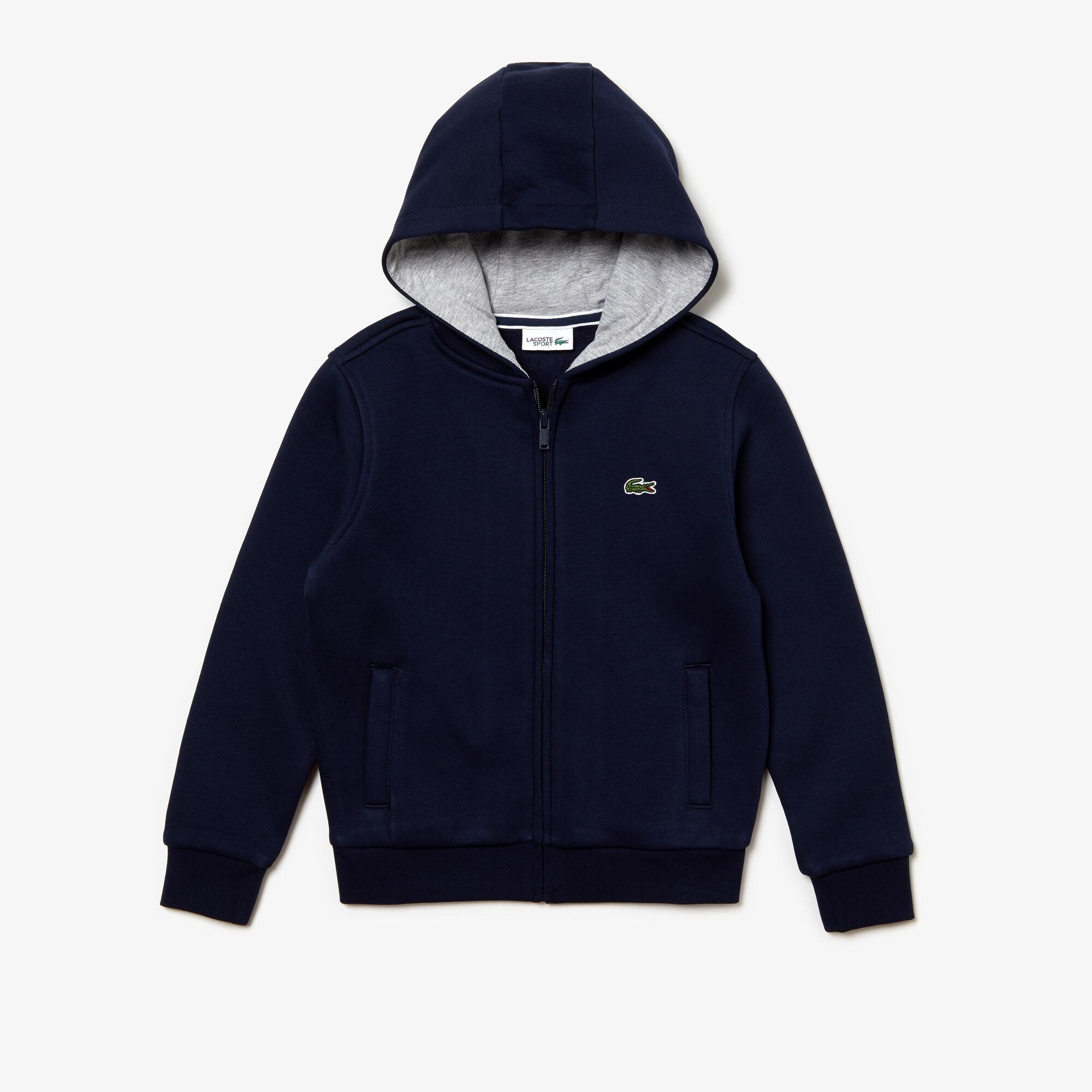 Kids' Lacoste SPORT Tennis Zippered Fleece Sweatshirt