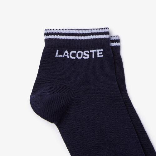 جوارب قطنية حزمة مزدوجة مجموعة Lacoste Sport للرجال