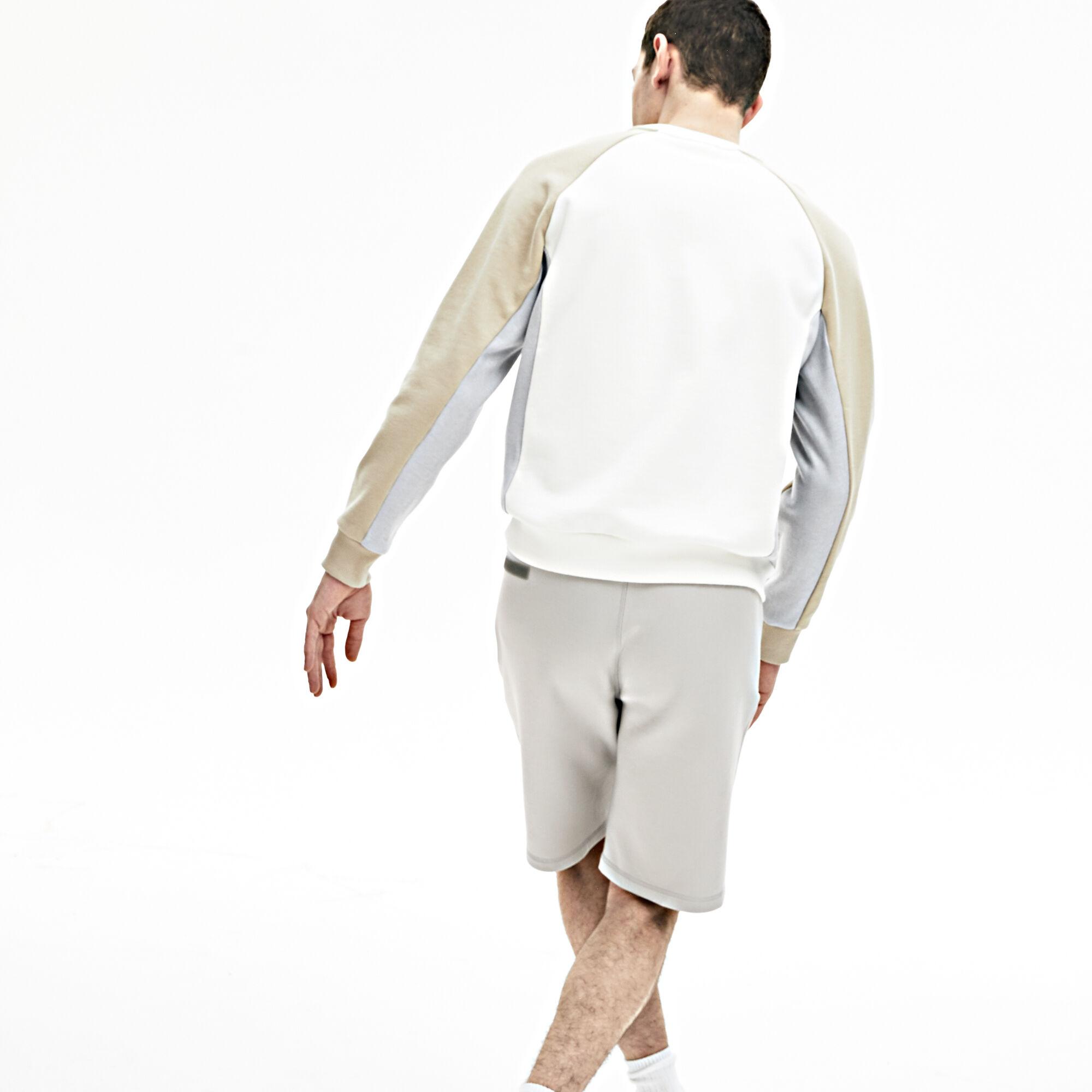 سروال قصير برمودا من القطن المرن للرجال من مجموعة Lacoste Motion