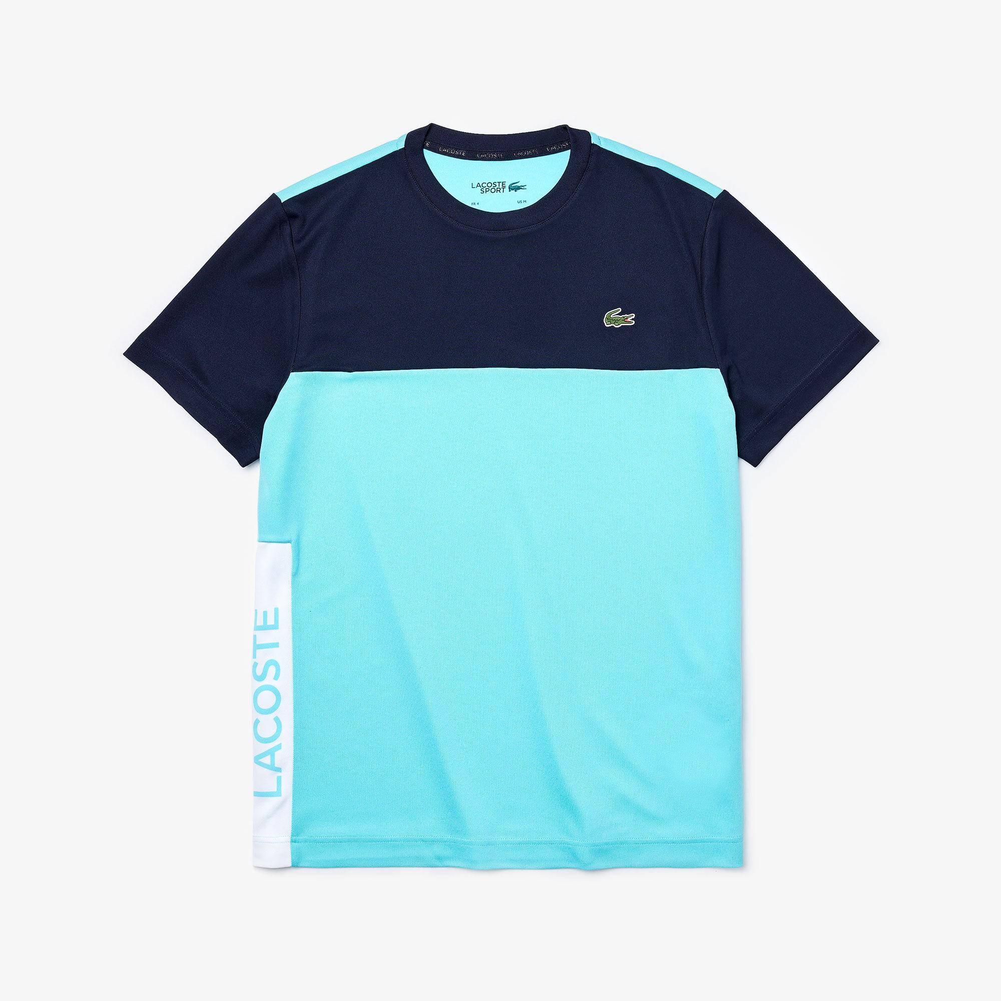 Men's Lacoste SPORT Colourblock Breathable Piqué T-shirt