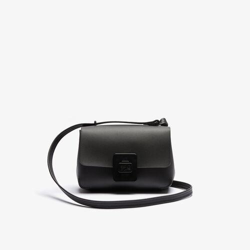 Women's Croco Turn Crocodile Clasp Leather Shoulder Bag