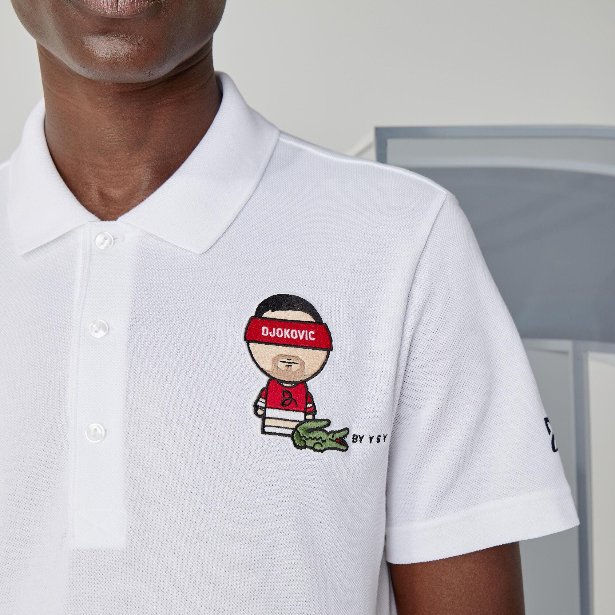 Men's Lacoste SPORT Collab Youssef SY Cotton Piqué Polo Shirt