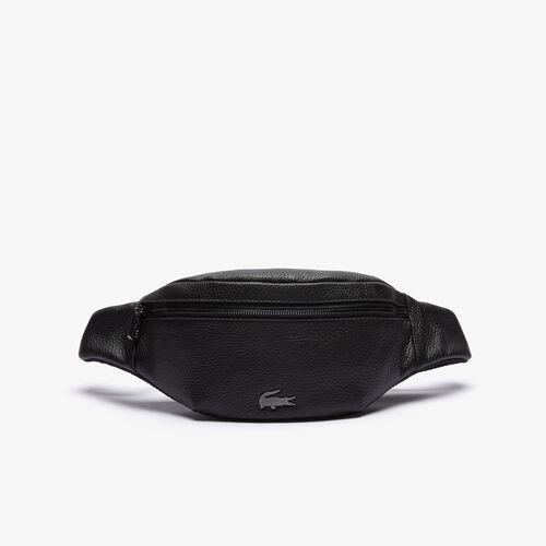حقيبة خصر بسحاب من الجلد المحبب مجموعة Soft Mate للرجال