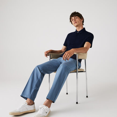 قميص بولو من بيكيه القطن المرن بقصة عادية من مجموعة Lacoste Paris للرجال