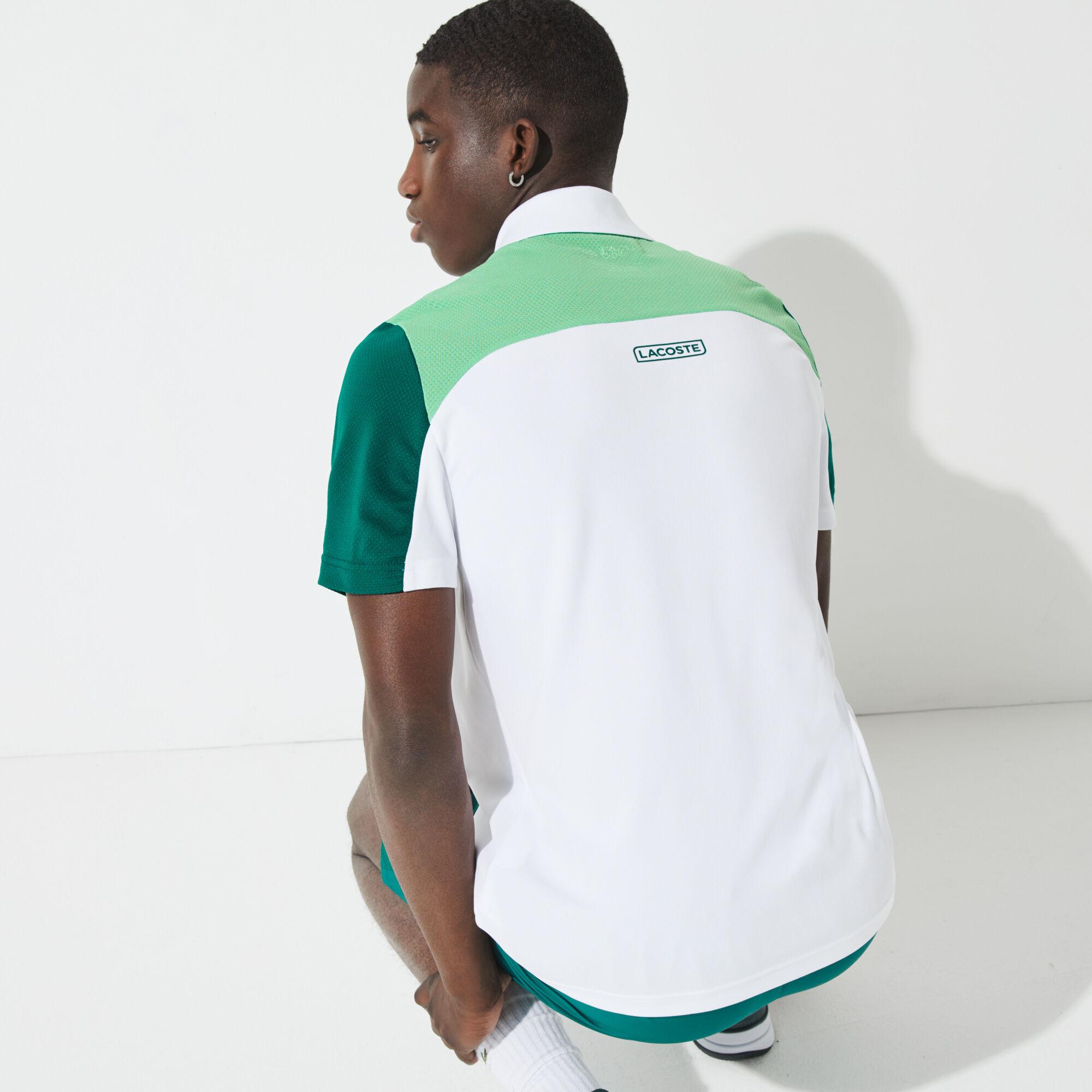 Men's Lacoste SPORT Breathable Colourblock Tennis Polo Shirt
