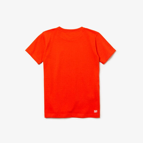 Boys' Lacoste Sport Crew Neck Croc Print Jersey Tennis T-shirt