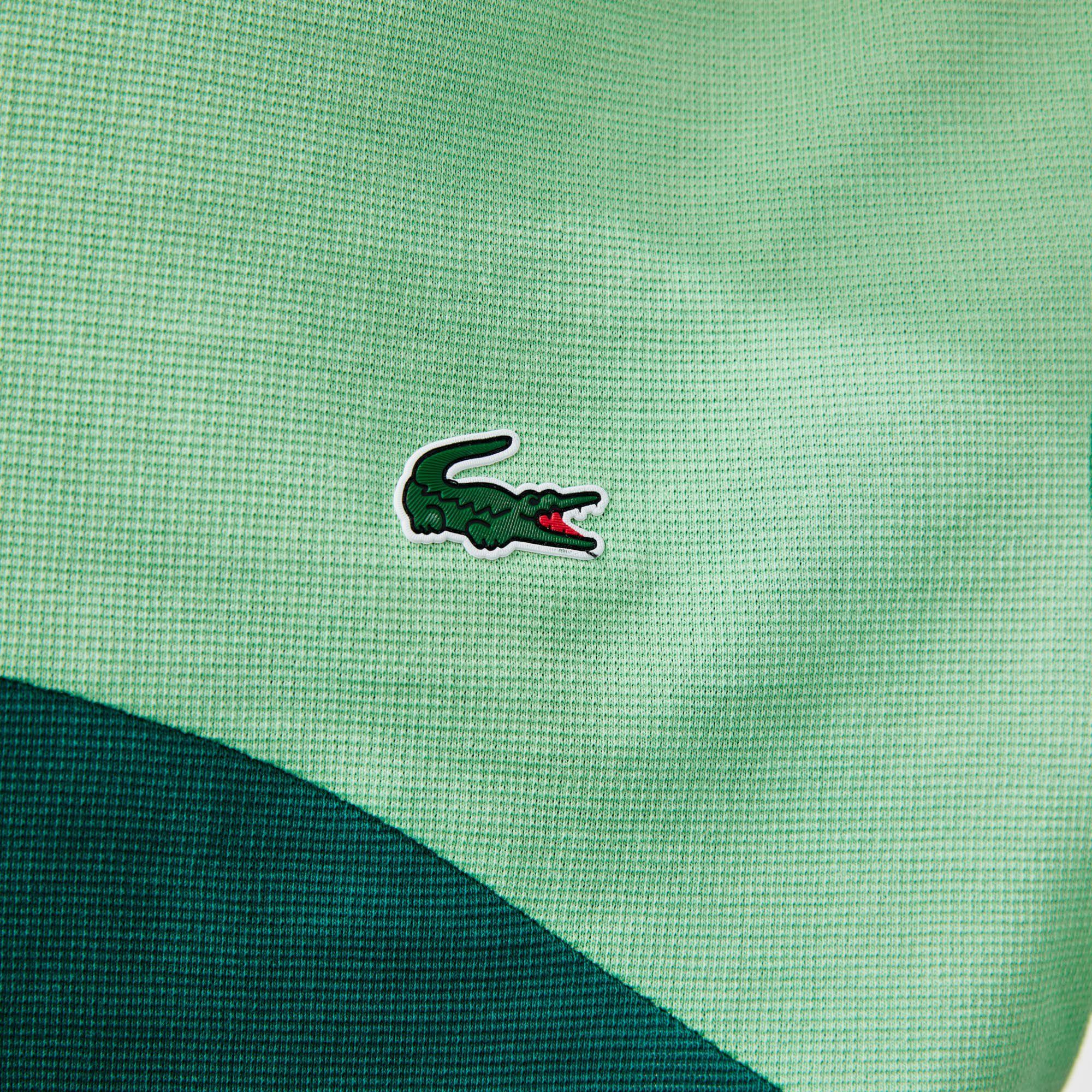 تي شيرت تنس للرجال فائق الخفة مع كتل لونية مجموعة Lacoste SPORT
