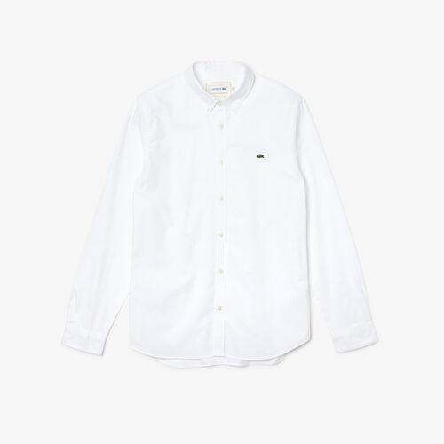 قميص من قطن أكسفورد المرن بقصة ضيقة للرجال