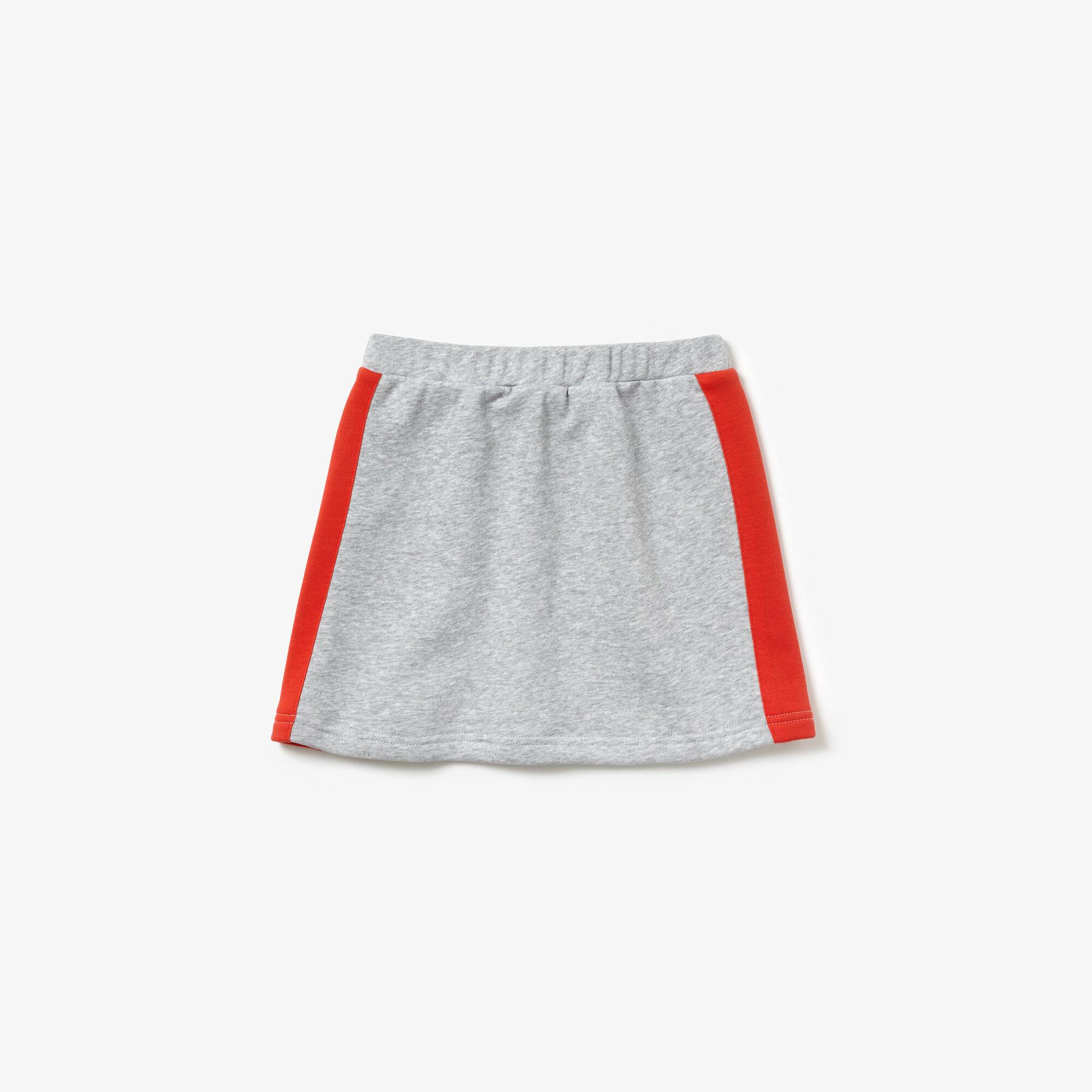 Girls' Piped Elasticised Colourblock Fleece Skirt