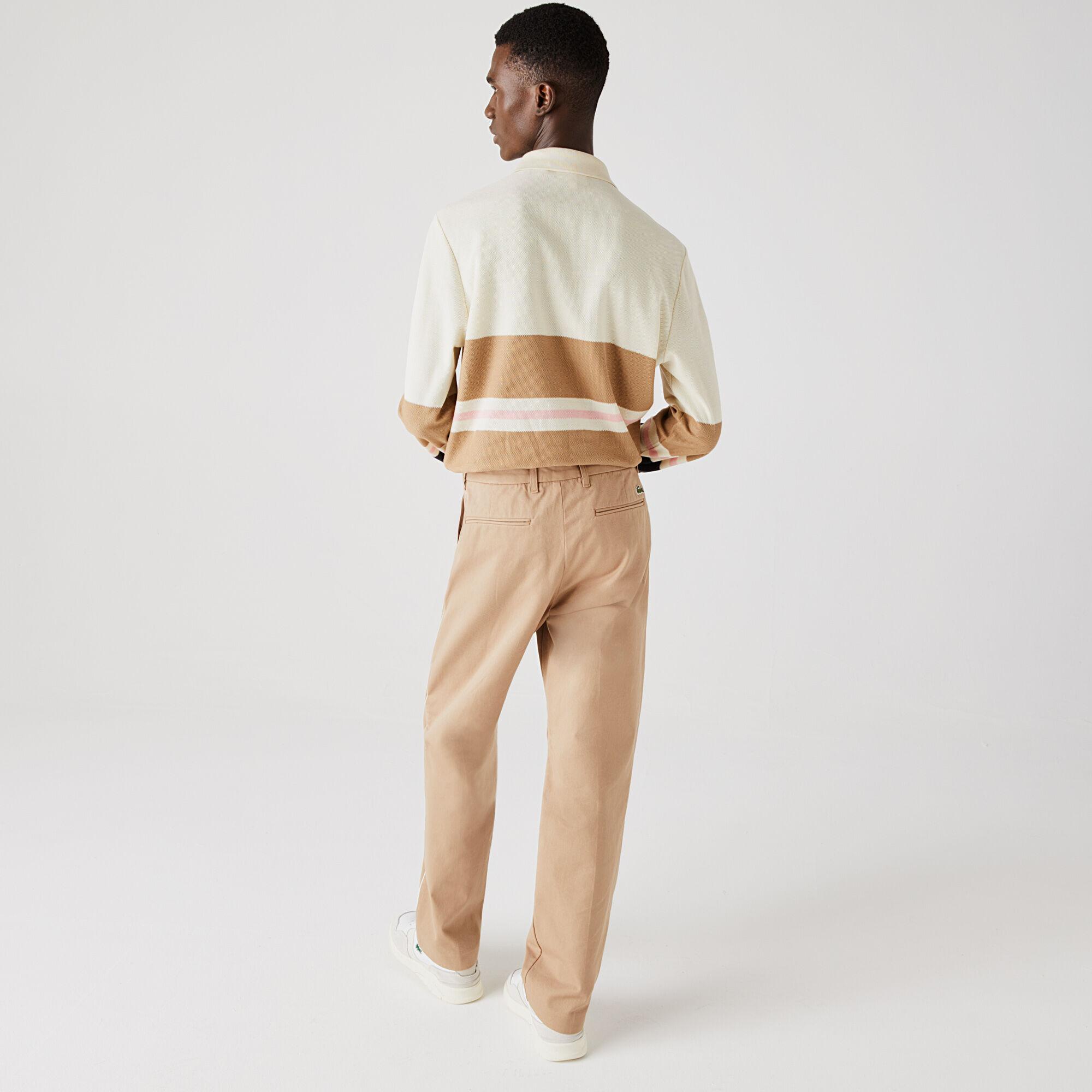 Men's Lacoste Classic Fit Striped Cotton Polo Shirt