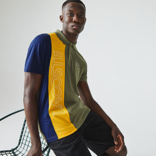 Men's Lacoste Regular Fit Colourblock Ultra-lightweight Knit Polo Shirt