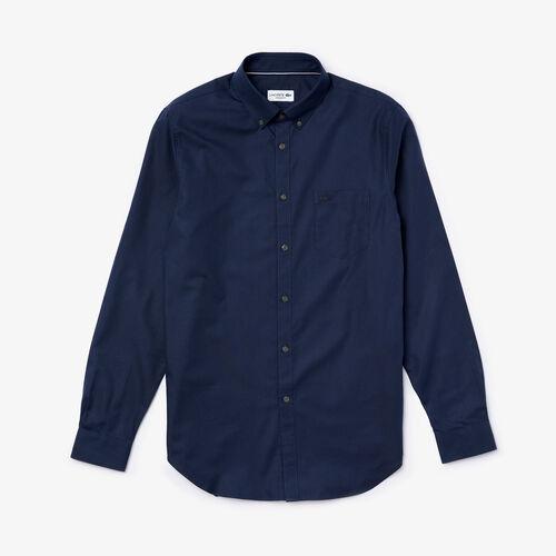 قميص للرجال بقصة عادية من قطن ميني بيكيه