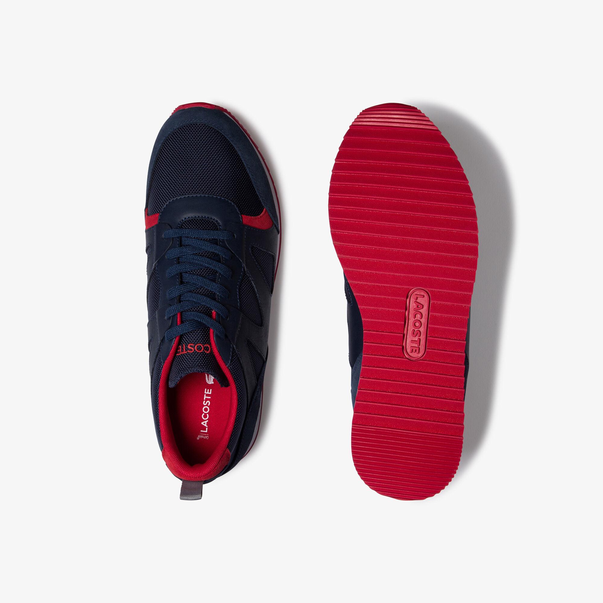 حذاءرياضي من القماش والجلد المدبوغ من مجموعة Aesthet للرجال