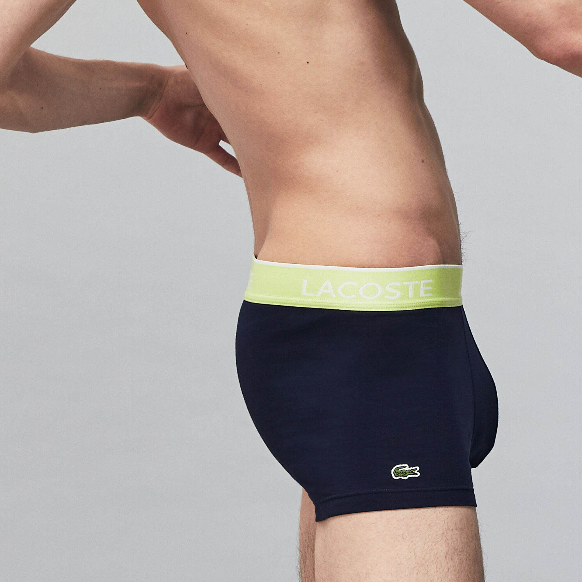 Pack Of 3 Navy Casual Boxer Briefs With Contrasting Waistband