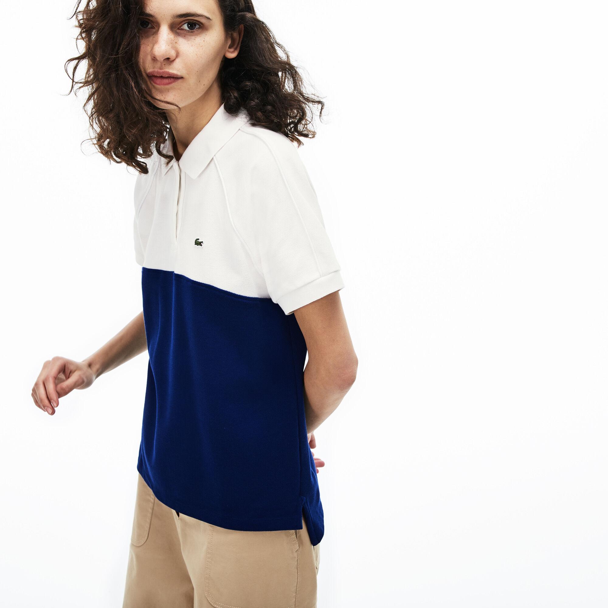 Women's Lacoste Classic Fit Colourblock Cotton Petit Piqué Polo Shirt