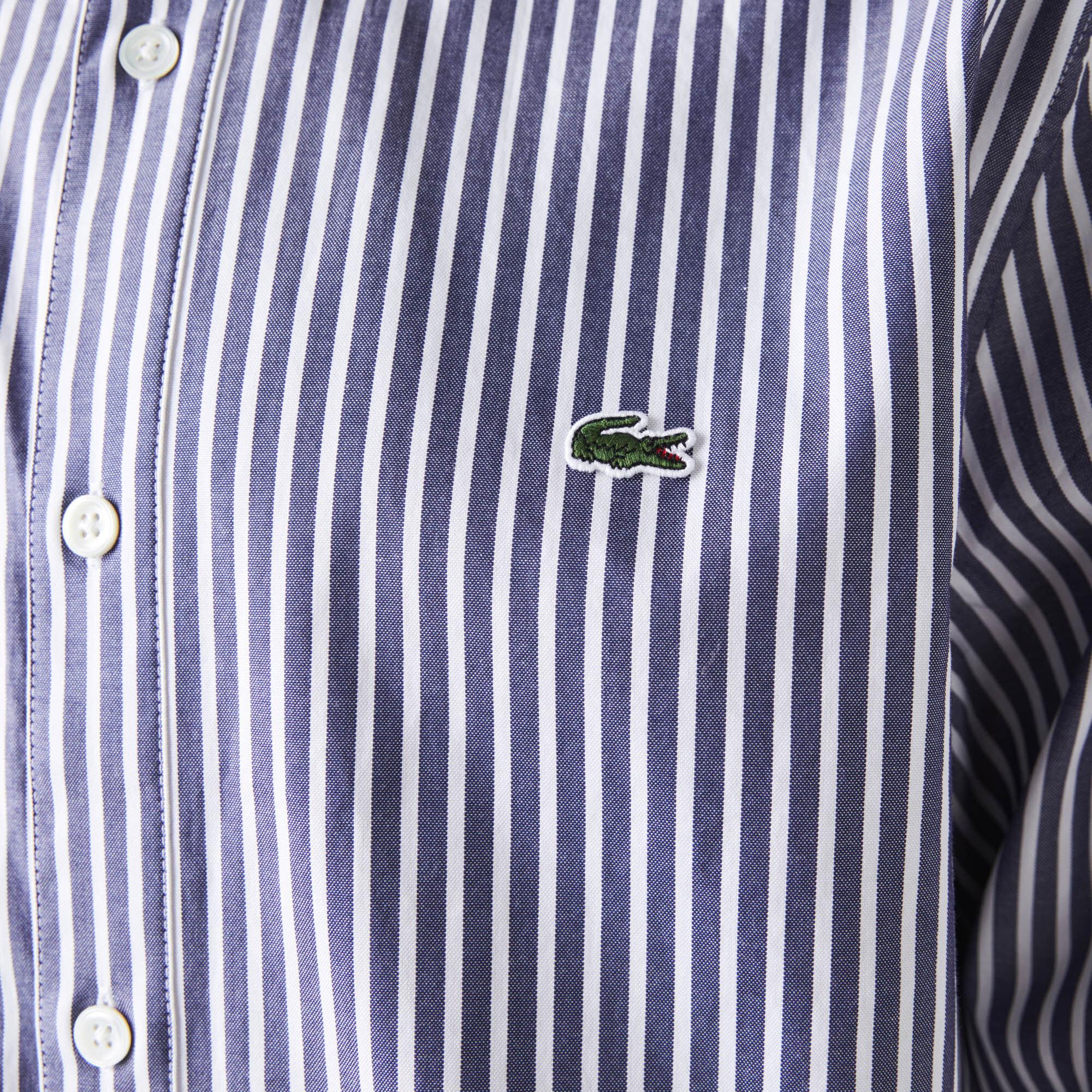 قميص قطن مخطط بقصة عادية للرجال
