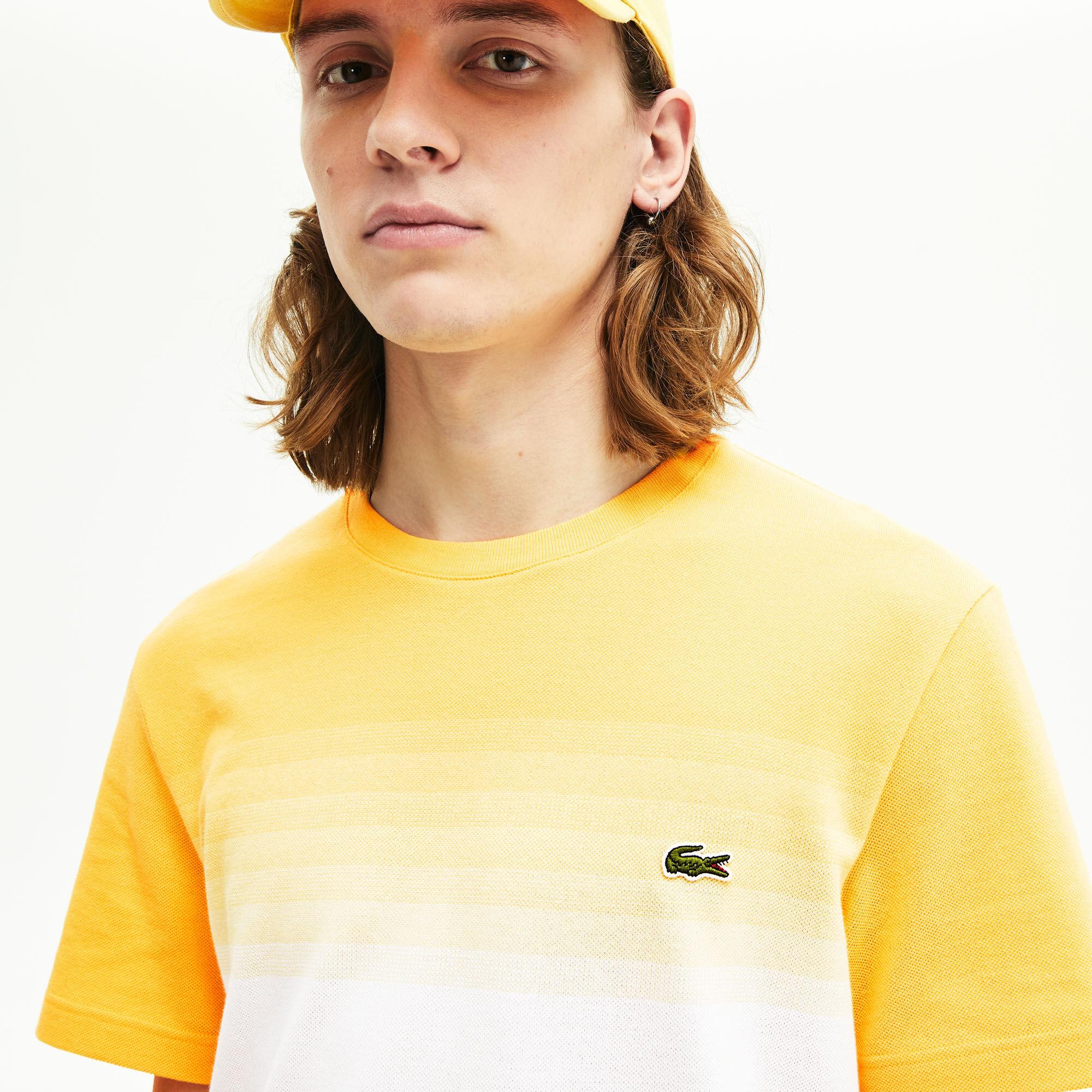 قميص تي-شيرت بفتحة رقبة مستديرة محيك من قطن بيكيه من مجموعة Made in France للرجال