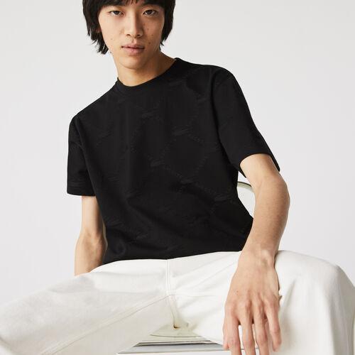 Men's Lacoste Live Monogram Patterned T-shirt