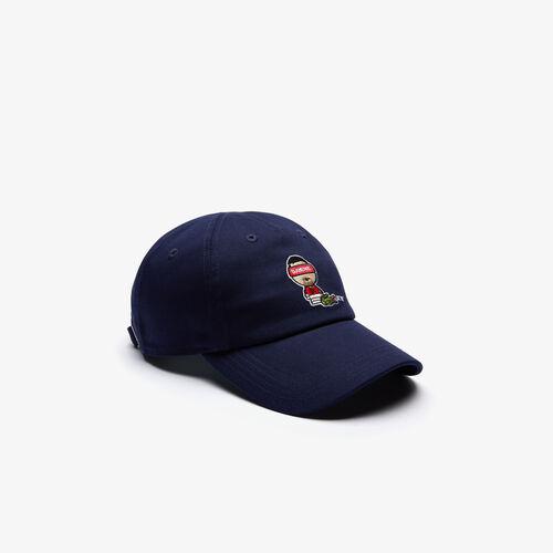 قبعة كاب قطنية مجموعة Lacoste Sport بالتعاون مع تصميم Youssef Sy للرجال
