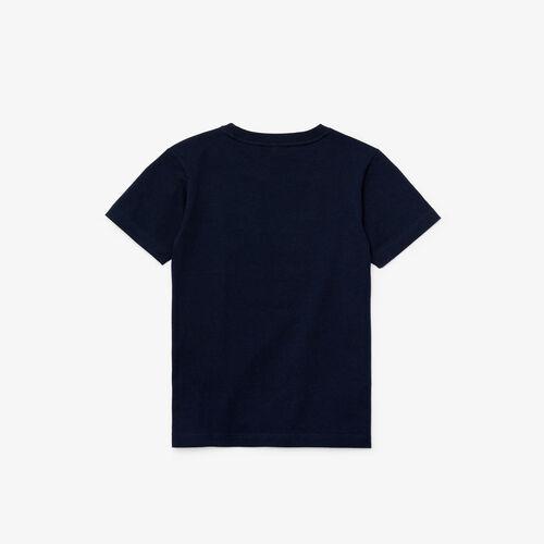 قميص تي-شيرت قطني من Lacoste للصبية