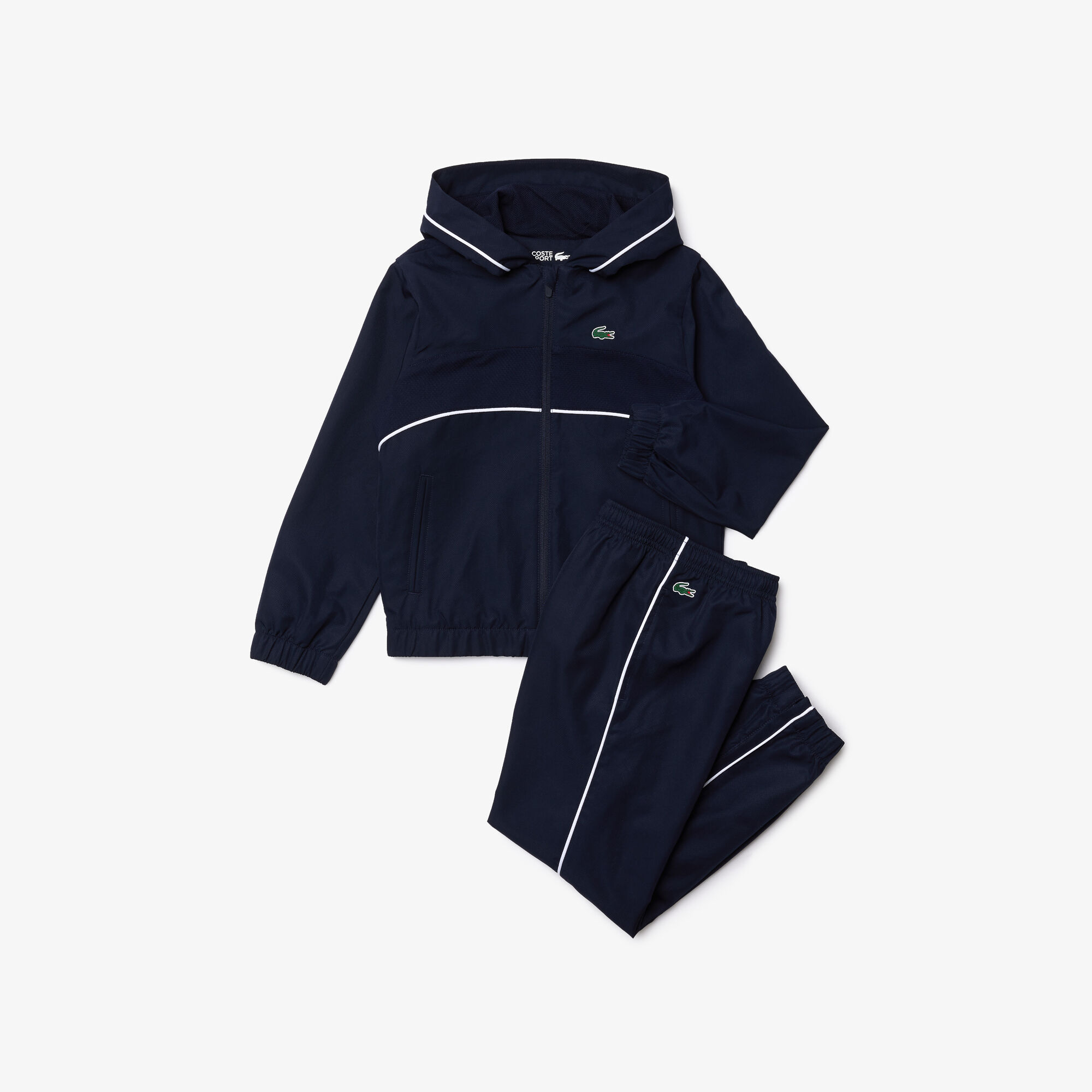 Boys' Lacoste SPORT Hooded Tennis Tracksuit