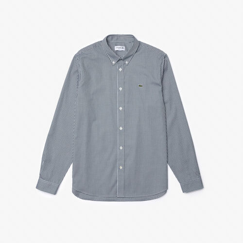 قميص كاروهات من القطن الفاخر بقصة عادية للرجال