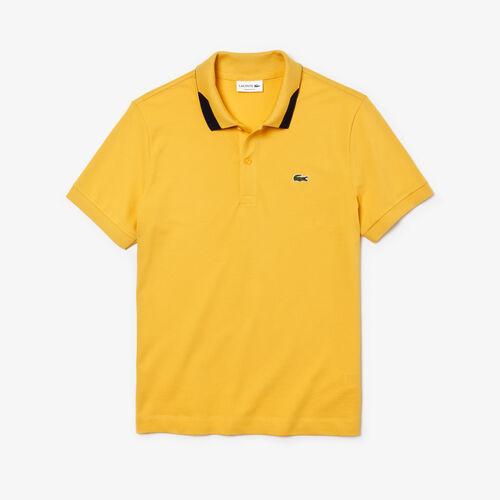 قميص بولو للرجال من بيكيه بيما المرن ذو قصة ضيقة بلمسات جمالية متباينة من Lacoste
