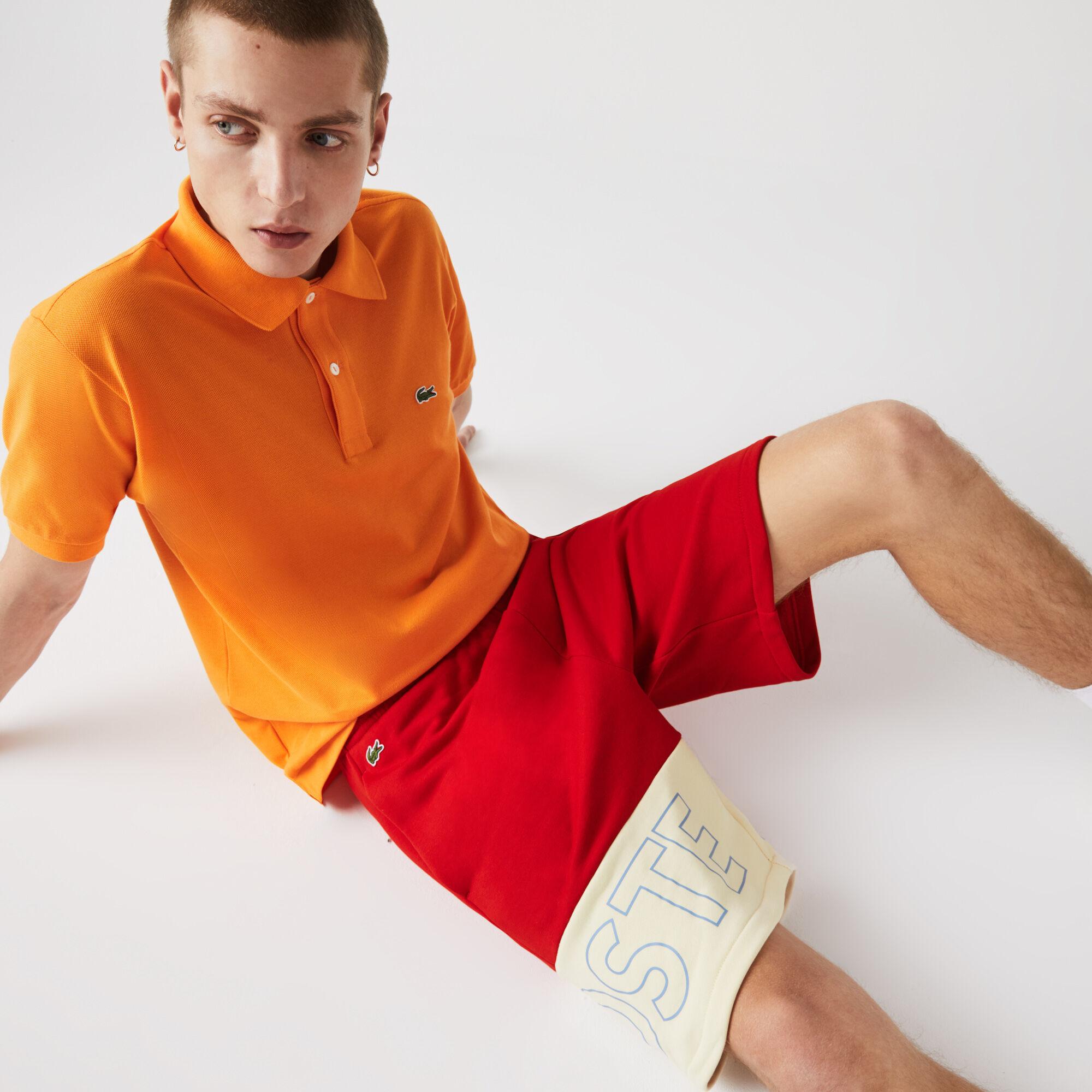Men's Lettered Colorblock Fleece Shorts