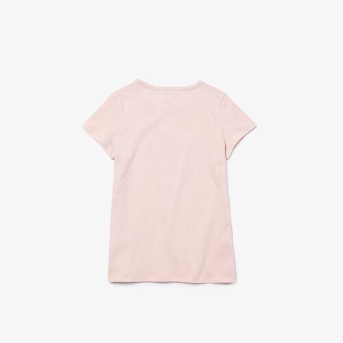 Girls' Logo Print Cotton T-shirt