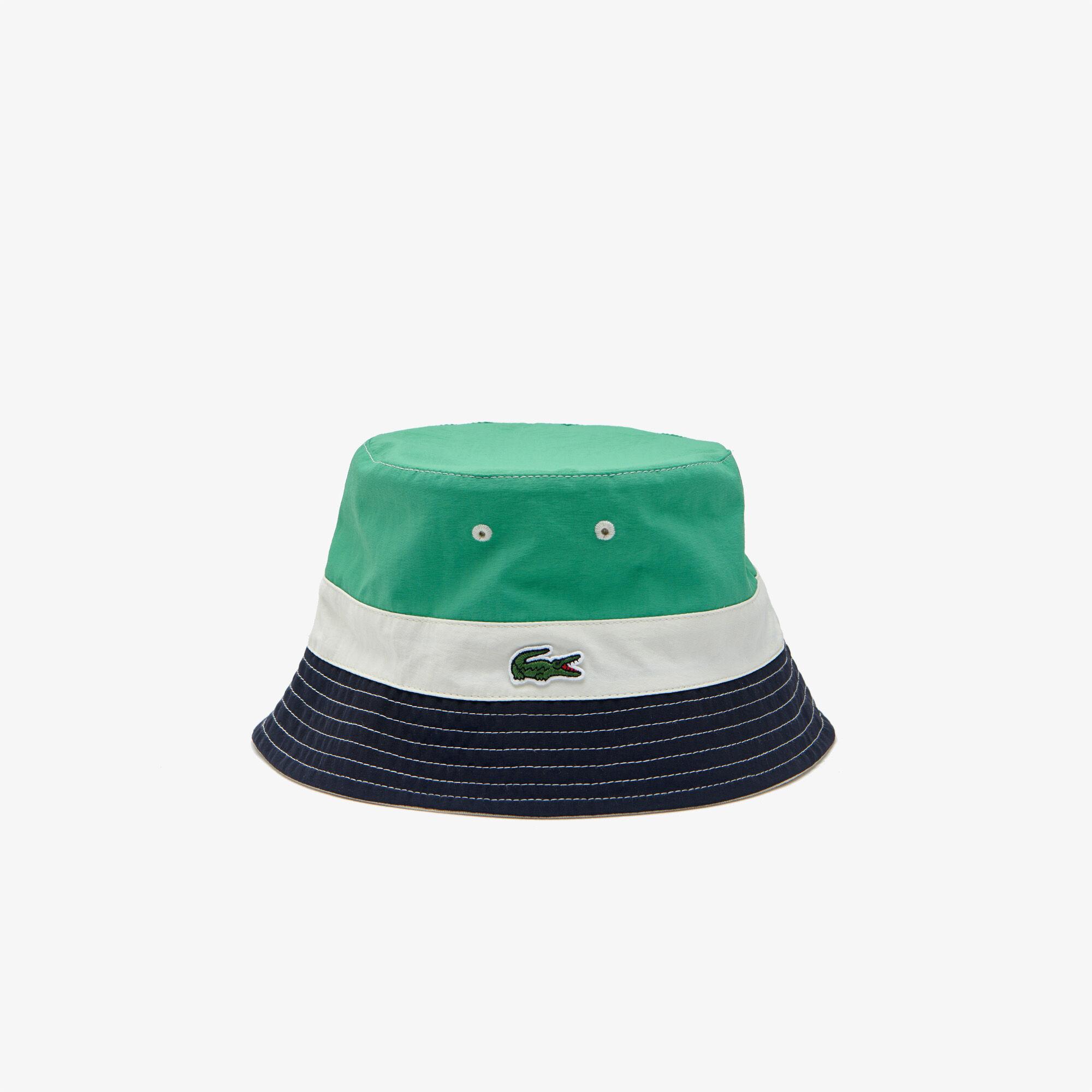 قبعة صيد خفيفة بكتل لونية للرجال يمكن لبسها على الوجهين